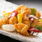 中華料理 桃李 - 海老と国産野菜の甘酢ソース炒め煮
