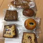 ゴトウ洋菓子店 - キャラメルフィグ、ケークルコント、桜とクランベリー、栗と黒豆のケーク、ノワゼット、木々葉 ヘーゼルナッツ