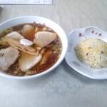 来々亭 - 料理写真:チャーシューワンタンメン&半炒飯