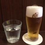 三福亭 - 水 + ランチ生ビール
