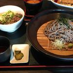 豊洲ダイニング梟 - 炙り和牛丼セット