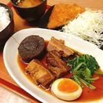 ぶたたま食堂 - 自家製 豚角煮定食