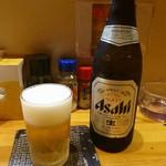 焼とり ゆうぐれ - ドリンク写真:瓶ピール(ASAHI)