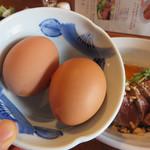 焼鳥 焼牛 健 - ランチのゆで玉子は食べ放題!