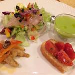 イル メルカート アンジェロ - アンジェロセットの前菜盛り合わせ