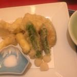 びわね - 山菜の天ぷら