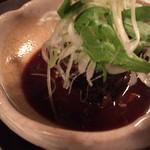 おばん菜 さけ 田 - 真っ黒でわかりませんが鯖の味噌煮
