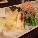 おばん菜 さけ 田 - アスパラガス焼き