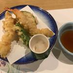 バンブーテラス - 海老天麩羅 野菜三種