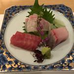 バンブーテラス - 旬の鮮魚三種盛り