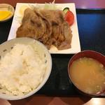 ファミリーレストラン だいまる - 生姜焼き定食