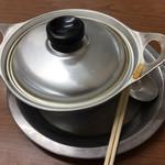 ことり - アルミの鍋が良いです。