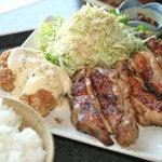 ジャムネシア 食堂 - 南国ジャマイカ生まれのジャークチキンと自家製タルタルソースが旨いタルタルチキンがダブルで食べられるスペシャル定食¥900-