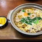 橋本食堂 - 漬物となべ焼きラーメン