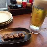焼き鳥スタンド酒場 角福 - ハツ