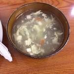 吉田飯店 - スープはお椀で出てきます