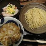 三ツ矢堂製麺 - つけ麺と季節のまぜご飯セット 824円