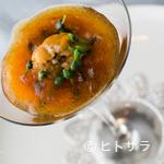 フレンチレストラン・プレジール - コントラストが美しい『生ウニとカリフラワーのムース』