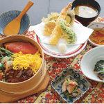 麺どころさつま - 料理写真:わっぱ飯天ぷら御膳