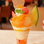 資生堂パーラー サロン・ド・カフェ - 春の国産フルーツパフェ