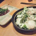魚に鍋に炭火焼 いちかわ 藤 - レバ刺し絶品&シーザーサラダ