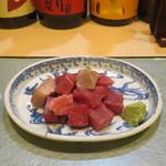 鮨國 - 天然本マグロぶつ刺身