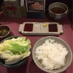 ぎんざ磯むら - とき串コース ¥930 ご飯と生野菜
