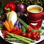 ステーキハウス KING'S - 新鮮野菜のバーニャカウダ