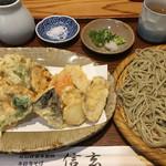 66418987 - 鰆と天ぷらの蕎麦
