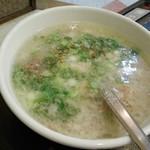 焼肉亀家 - テールスープ