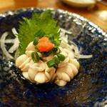 土と青 - 真鱈の白子 ポン酢