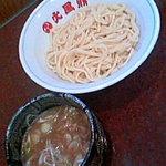 白山 火風鼎 - 濃厚豚骨魚介手打ちつけ麺700円(クーポン利用)通常800円