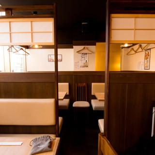 ◆半個室あり。小~中宴会、貸切宴会もご相談ください!