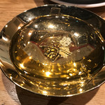 大衆割烹TAKEYA - 金粉入りのお酒を金杯で乾杯