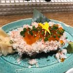 大衆割烹TAKEYA - こぼれ寿司ハーフ880円
