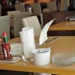 クロスロード - テーブルに灰皿が・・・できればランチタイムは禁煙にしてほしい。m(_ _)m;;;