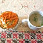 66438679 - サラダ、スープ ※Aランチ