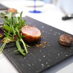 カイノヤ - ボーヤファームの仔羊 ロースとバラ肉のロースト