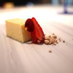 カイノヤ - 小さなチーズケーキと苺