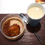 カイノヤ - フィナンシェとチョコレート チャイのプリン