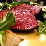 ラザーニャ・ラザーニャ - 国産牛イチボのロースト 西京味噌のソース