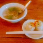 パッポン食堂 - スープと春巻き