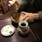 香るつけ蕎麦 蕎麦花 - 擦る嫁(^-^;