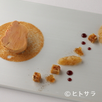 レストラン ラ フィネス - 『フォアグラの冷製 オックステールのトリプルコンソメ風味』