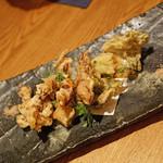 高太郎 - 蛍烏賊と山菜の天ぷら