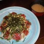 6645392 - 港楽丼(味噌汁つき)