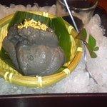 6645423 - デザートの黒ごま豆腐は美味しい。