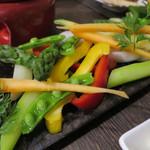 エロうま野菜と肉バル カンビーフ - エロうま野菜のバーニャカウダー