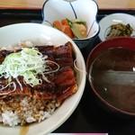 呑み喰い処 奥飛騨 - うなぎ丼定食(880円)