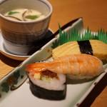 居酒屋 清八 - 〆のお寿司はちょっと地味…